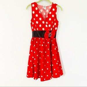 Disney Parks Minnie Mouse Red/White Dress Sz XS